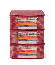 3 Pc's Durable Storage Container Quilt Storage Bags Folding Portable Washable
