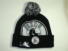 New Era MLB Boston Red Sox Team Logo Black Cuffed Pam Knit Beanie Hat Cap NewEra