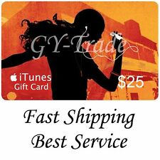 Apple iTunes $25 US Gift Card Karte Code Voucher Certificate USA USD iTune FAST