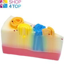 TALE OF TWO STARS SURPRISE SOAP CAKE SLICE BOMB COSMETICS BANANA ROSE HANDMADE
