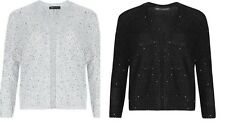 M&S Collection Silver or Black Open Front Sequin Bolero Cardigan Sz 10 12