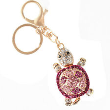 Tortoise Creative Fashion Cute Purse Bag Accesories Crystal Key Ring Chain Gift