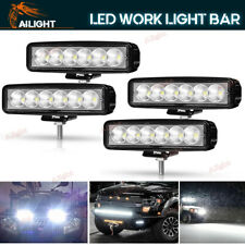 4x 6INCH 18W LED WORK LIGHT BAR FLOOD OFFROAD ATV FOG TRUCK LAMP 4WD 12V 6""