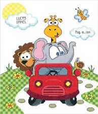 Cross Stitch Kit ~ Janlynn Animal Fun Ride Birth Announcement #021-1775