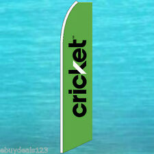 Cricket Green Flutter Flag Feather Swooper Cell Phone Advertising Sign Banner