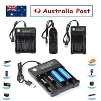 Universal 1/2/4 Slots 4.2V Rechargeable 18650 Li-ion Battery Smart Charger