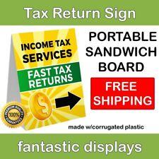 "INCOME TAX RETURN Sign 18"" x 24"" Lightweight Corroplast Portable Sandwich Board"