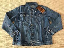 NWT Men's Wacky Jeans Wear Medium Blue Classic Denim Jean Jacket ALL BIG SIZES