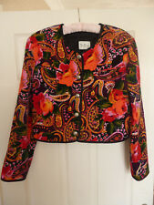 BETTY BARCLAY FLORAL DESIGN QUILTED LADIES  DESIGNER JACKET.
