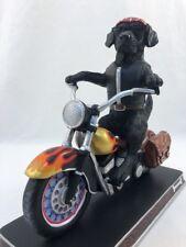 Black Labrador Dog Motorcycle Bike Danbury Mint Biker Bad To The Bone Sculpture