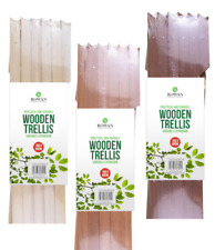 More details for 2xexpanding wooden garden trellis 5ft x 2ft wall fence panel plant climb support