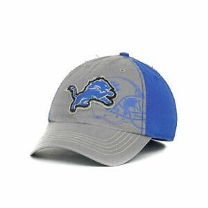 Detroit Lions Webster Twins '47 NFL Franchise Helmet Stitch Gray Blue Hat Cap L