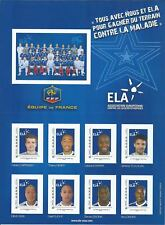 Montimbramoi@ N°4 - 24 TIMBRES AUTOADHESIFS (3 COLLECTORS) EQUIPE DE FRANCE ELA