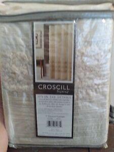 Croscill Shower Curtain ~ Ivory ~ Jasmin ~ 70 X 72 New