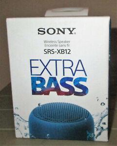 Sony SRS-XB12 Extra Bass Bluetooth Speaker - Blue - NEW IN BOX!!
