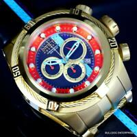 Invicta Reserve Bolt Zeus S1 Racer Leather 52mm Swiss Mvt Gold Plated Watch New