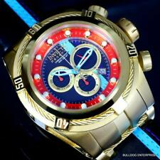 Invicta Reserve Bolt Zeus S1 Corredor Cuero 52mm Suizo Mvt Oro Chapado Reloj New