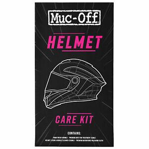 Muc-Off Motorcycle Helmet Care Kit - Foam Fresh, Visor Cleaner, Anti-Fog, Cloth