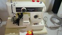 Vintage Sears/Kenmore 385.124380 Sewing Machine w foot pedal, manual, tested EC