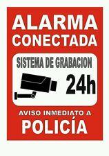 Pegatina Adhesivo Sticker Cartel Alarma 20x14,5 CMS Aufkleber Autocollant