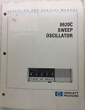 Hp 8620C Sweep Oscillator Operating & Service Manual P/N 08620-90093
