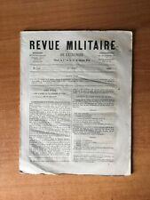 REVUE MILITAIRE DE L'ETRANGER  : n° 508 : coup d'oeil sur l'armée et le