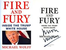 Michael Wolff~ SIGNED IN PERSON~Fire and Fury~1st Edition HC + Photos!!