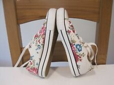 WOMEN'S CONVERSE ALL STAR Sz 4 EU37 FLORAL LOW TOP PUMPS SNEAKERS SHOES TRAINERS