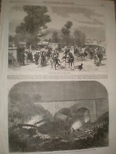 Agricultural Show Cheltenham & Railway accident New Mills Peak Forest Line 1867
