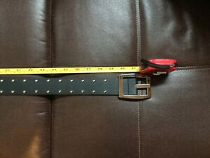 Unisex Calvin Klein Black Belt Double Row Of Beads LayingFlat Measures 41-1/2