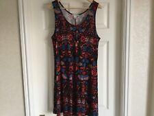 Ladies H&M Black Multi Coloured Tunic Top Dress Size M