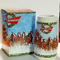 Budweiser Anheuser-Busch 2009 Holiday Stein A Holiday Tradition Box Imperfection