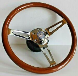 Steering Wheel fits Mercedes Benz Wood Walnut  W123 W124 W126 W201 R107 1979-92