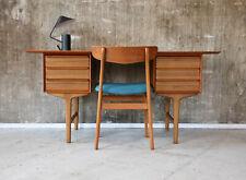 60er Teak Schreibtisch Danish Mid-Century 60s Vintage Writing Desk 50er