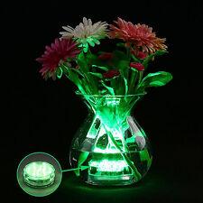 Submersible 10 LED wasserdichtes Licht RGB für Vase Hochzeitsfest Fish Tank NEU