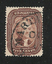 U.S. Scott 29 brown 5c Jefferson type I stamp.
