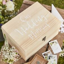 Vintage Rustic Wooden Wedding Memory Keepsake Box Storage Gift Shabby Chic