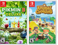 Pikmin 3 Deluxe and Animal Crossing: New Horizons - Nintendo Switch