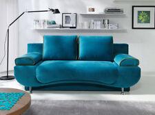 Sofa mit Schlaffunktion Couch Bettkasten Schlaffsofa Grande Blau Braun Grau 15