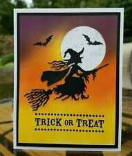 Handmade Stampin Up HAPPY HALLOWEEN Greeting CARD KIT Witch Bats Trick or Treat