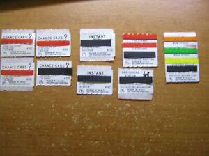 monopoly mcdonalds x 12 unused tickets.