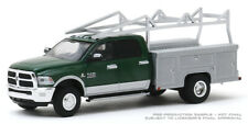 1/64 Dcp/Greenlight green/silver Ram 3500 dually service truck new