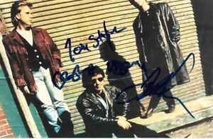 Jeff Healey Band full signed 4x6 inch photo autographs