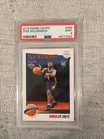 2019 Panini Nba Hoops Zion Williamson Tribute Rookie Card #296 Psa 9 Mint