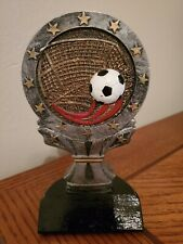 "Soccer 6 1/2"" Trophy/Award/Statue Pewter/Gold"