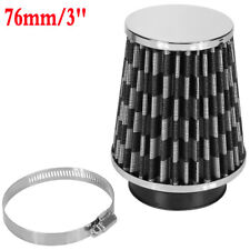 """UNIVERSAL CAR AIR COLD FILTER MOTOR SPORT SOUND INVERTED INTAKE KIT 76MM 3"""" NEW"""