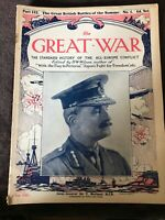 Early Vintage WW1 Magazine - The Great War - Issue / Part 122 December 16th 1916
