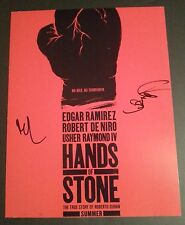 EDGAR RAMIREZ & USHER RAYMOND Authentic Hand-Signed HANDS OF STONE 11x14 Photo