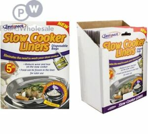 20 Sealapack Slow Cooker Liners Cooking Bags 4 x 5 Pack For Round & Oval Cookers