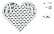 591 Hama Beads MINI Placa corazón pequeño,Pegboard